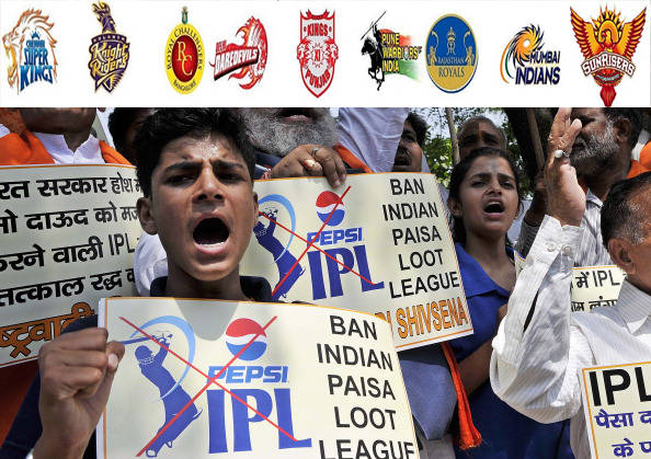 Protest Against IPL